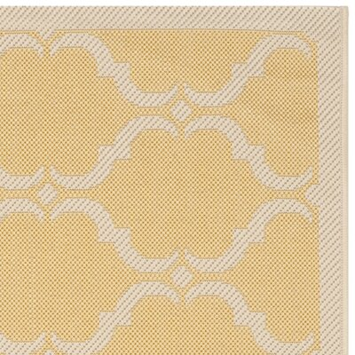 Welby Yellow/Beige Geometric Contemporary Rug Rug Size: Runner 23 x 8