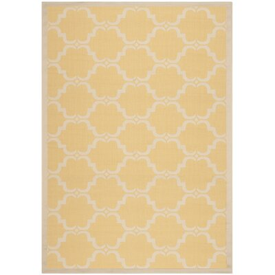 Welby Yellow/Beige Geometric Contemporary Rug Rug Size: Runner 27 x 5