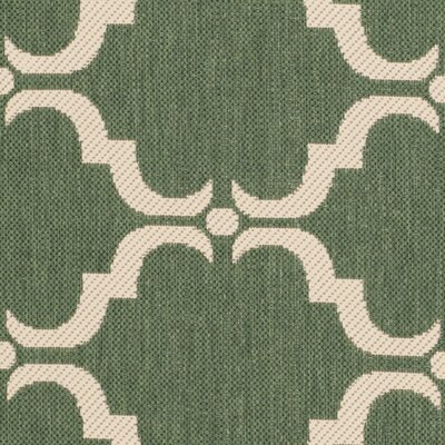 Welby Dark Green/Beige Geometric Contemporary Rug Rug Size: Runner 23 x 8