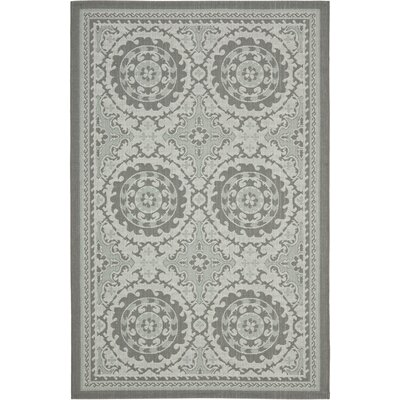 Short Anthracite/Light Grey Oriental Rug