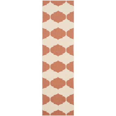 Welby Beige/Terracotta Contemporary Rug Rug Size: Runner 23 x 12