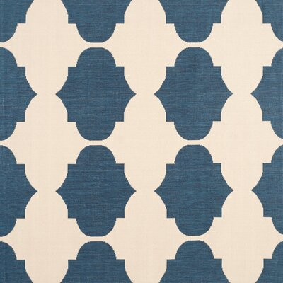 Short Beige/Navy Contemporary Rug Rug Size: Square 53