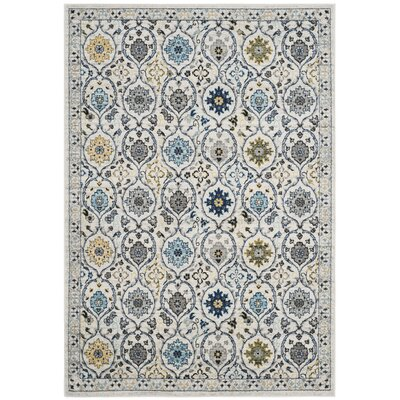 Aegean Ivory/Blue Area Rug Rug Size: Square 7