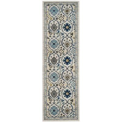Aegean Ivory/Blue Area Rug Rug Size: Rectangle 3 x 5