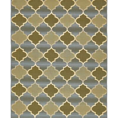 Alice Beige Indoor/ Outdoor Area Rug Rug Size: Round 8