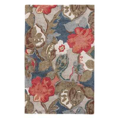 Willette Blue/Red Floral Area Rug Rug Size: 2 x 3