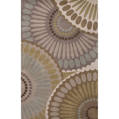 Roswell Wool Hand Tufted Gray/Ivory Area Rug Rug Size: 2' x 3'