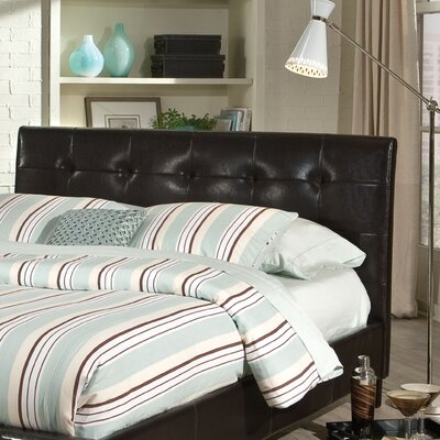 Noyes Upholstered Panel Headboard Size: Queen, Finish: Brown
