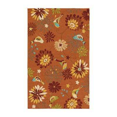Cynthia Orange Outdoor Rug Rug Size: Rectangle 5 x 8