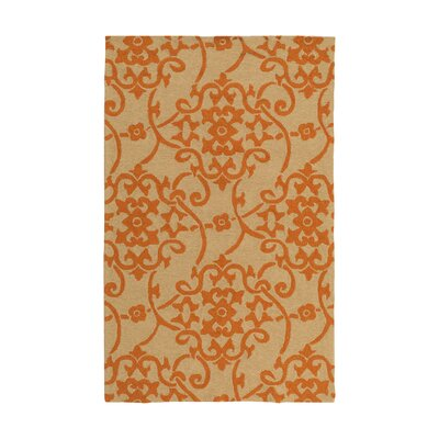 Cynthia Orange Indoor/Outdoor Area Rug Rug Size: 2 x 3