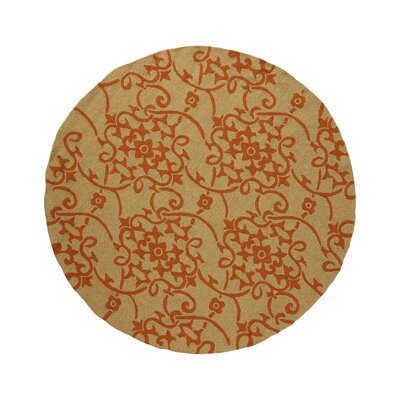 Cynthia Orange Indoor/Outdoor Area Rug Rug Size: Round 8'