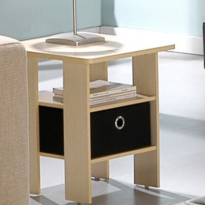 Joseph End Table with Storage Color: Steam Beech