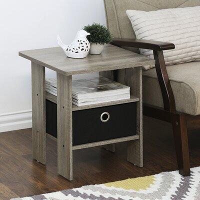Joseph End Table Color: Oak Gray