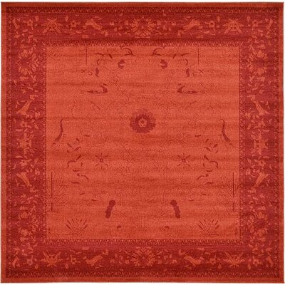 Aledo Rust Red Area Rug