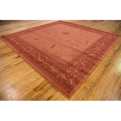Shailene Rust Red Area Rug Rug Size: Square 10