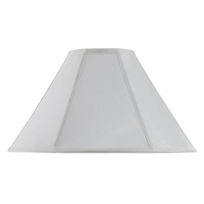 Lisa 17 Fabric Empire Lamp Shade Finish: White