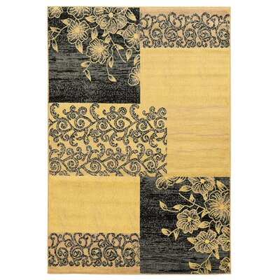 Sheldon Cream Area Rug Rug Size: 2 x 3