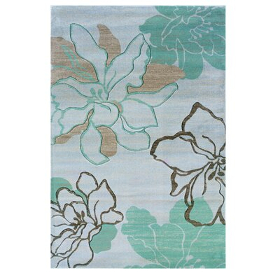Carlee Ivory/Turquoise Area Rug Rug Size: Rectangle 110 x 210