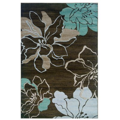Conduit Brown/Sand Area Rug Rug Size: 5 x 77