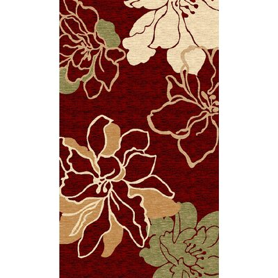 Carlee Burgundy/Beige Area Rug Rug Size: Rectangle 5 x 77