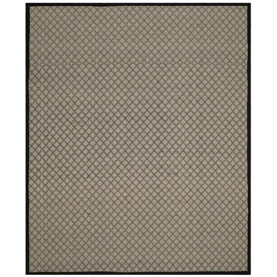 Doyle Ivory/Black Indoor/Outdoor Area Rug Rug Size: Square 6