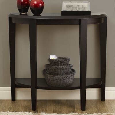 Blakeway Half Moon Console Table Finish: Cappuccino