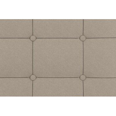 Amherst Upholstered Platform Bed Size: Queen, Color: Tan