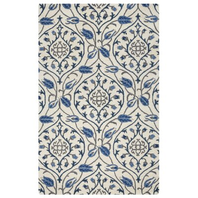 Hurst Hand-Tufted Ivory Area Rug Rug Size: Rectangle 5 x 8