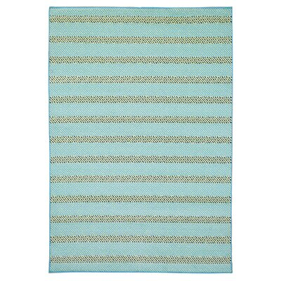 Carson Blue/Aqua Indoor/Outdoor Area Rug Rug Size: 53 x 77