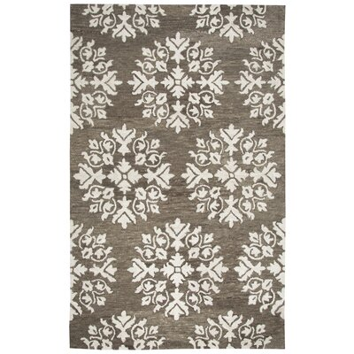 Bluebell Hand-Tufted Brown/Ivory Area Rug Rug Size: Rectangle 5 x 8