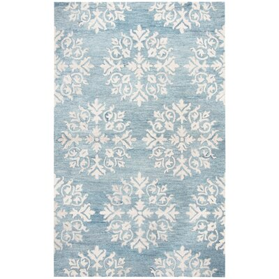 Brodie Hand-Tufted Aqua Blue Area Rug Rug Size: Rectangle 5 x 8