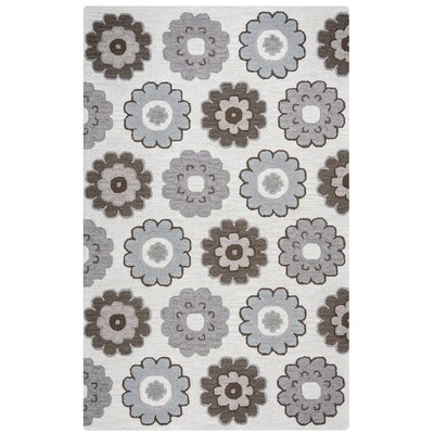 Bartonville Hand-Tufted Gray Area Rug Rug Size: Rectangle 5 x 8
