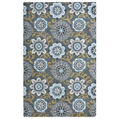 Hurst Hand-Tufted Gray/Beige Area Rug Rug Size: Rectangle 5 x 8