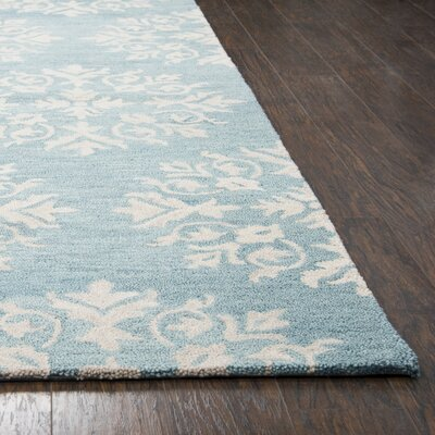 Brodie Hand-Tufted Aqua Blue Area Rug Rug Size: Rectangle 9 x 12
