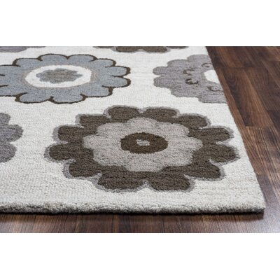 Hopkins Hand-Tufted Gray Area Rug Rug Size: 8 x 10