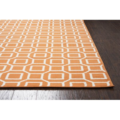 Julian Orange Indoor/Outdoor Area Rug Rug Size: Round 55