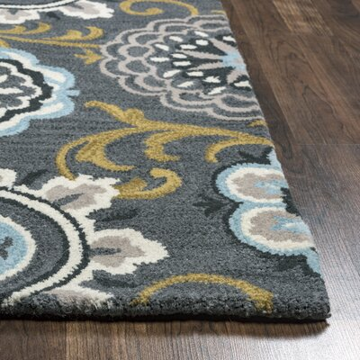 Hurst Hand-Tufted Gray/Beige Area Rug Rug Size: Rectangle 8 x 10