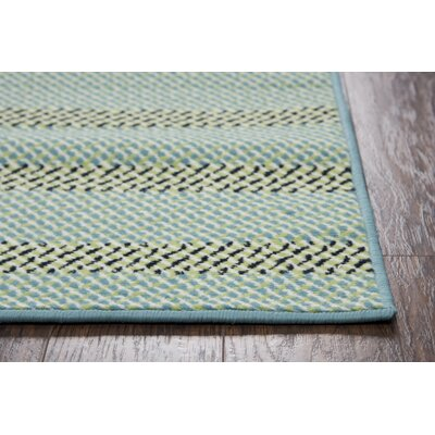 Carson Blue/Aqua Indoor/Outdoor Area Rug Rug Size: Rectangle 23 x 4