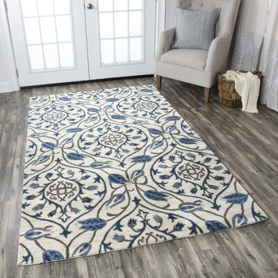 Hurst Hand-Tufted Ivory Area Rug Rug Size: Rectangle 8 x 10