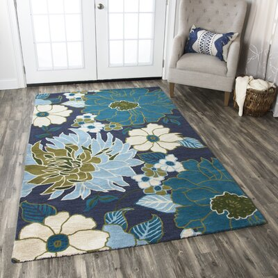 Basco Hand-Tufted Multi Area Rug Rug Size: 9 x 12