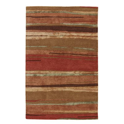 Williamsfield Abstract Rust Area Rug Rug Size: 5 x 8