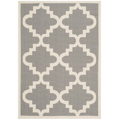 Welby Ashton Anthracite/Beige Indoor/Outdooor Area Rug Rug Size: 53 x 77