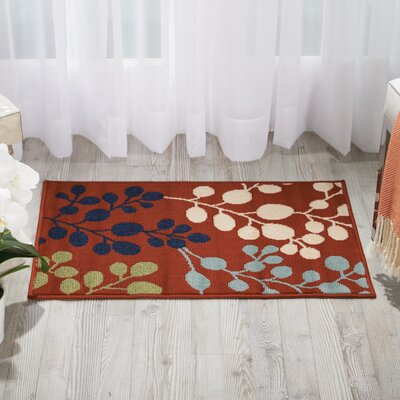 Brockenhurst Rust Indoor/Outdoor Area Rug Rug Size: 93 x 129