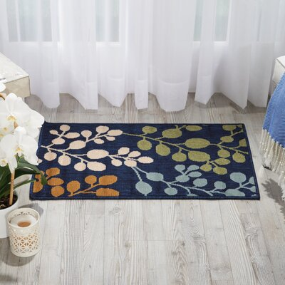 Brockenhurst Navy Indoor/Outdoor Area Rug Rug Size: 19 x 29