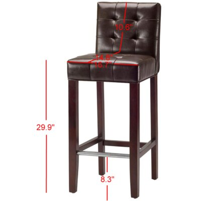 Robandy 30 Bar Stool Upholstery: Brown