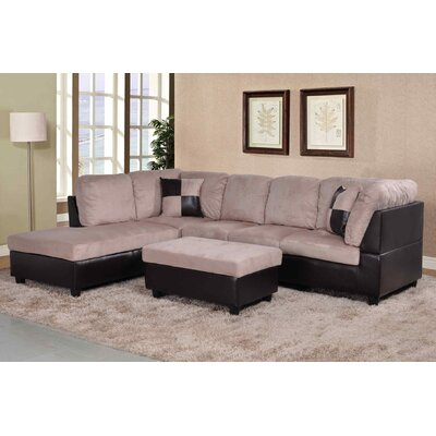 Russ Sectional Upholstery: Light Brown, Orientation: Right Hand Facing