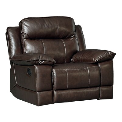 Rindham Rocker Manual Leather Recliner