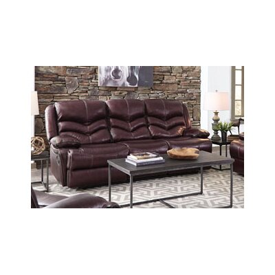 Scribner Denali Manual Motion Leather Reclining Sofa