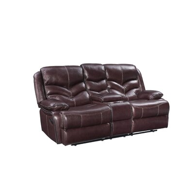 Washington Manual Motion Leather Reclining Loveseat