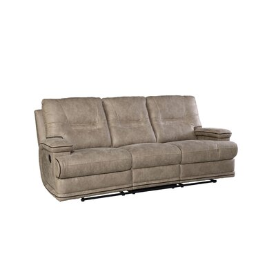 Camron Manual Taupe Motion Reclining Sofa